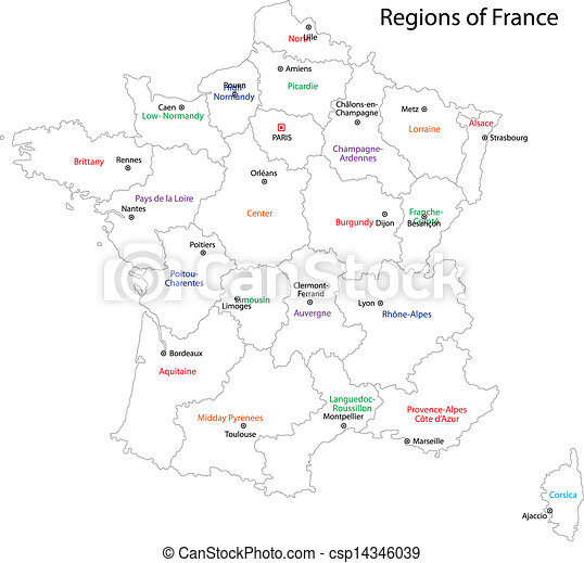 Outline-Rance-Karte - csp14346039
