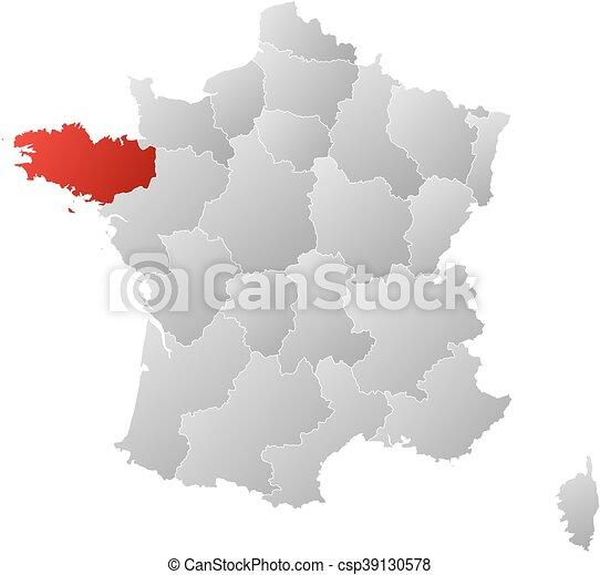 karta bretagne frankrike Frankrike, karta,  , bretagne. Karta, linjär, landsorten  karta bretagne frankrike