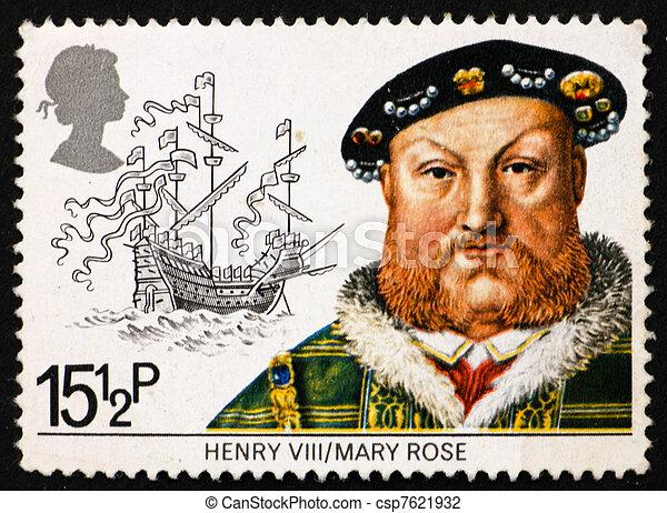 Correo GB 1982 Rey Enrique VIII - csp7621932