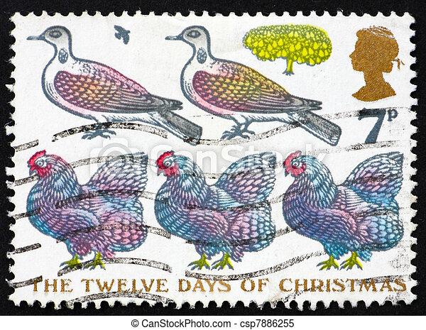 Correo GB 19772 palomas y tres gallinas francesas - csp7886255