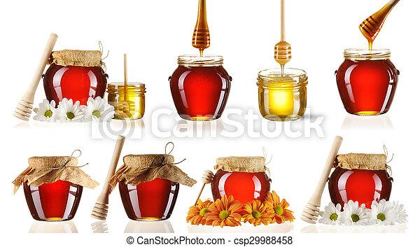 Jarra de colección de miel - csp29988458