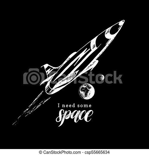 Una Frase Escrita A Mano Necesito Espacio Ilustración