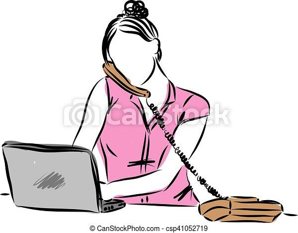Frau Arbeit Abbildung