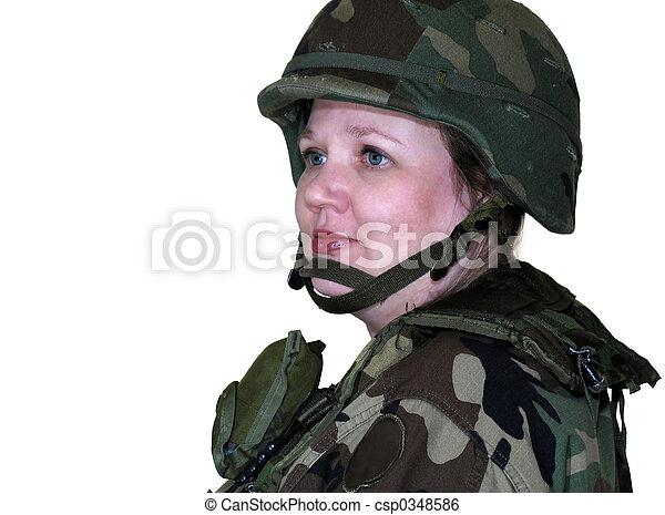 frau, armee - csp0348586