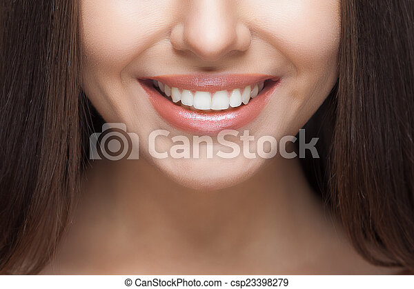 frau, dental, whitening., z�hne, care., smile. - csp23398279