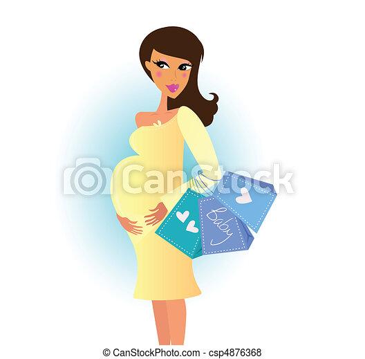 Schwangere einkaufen - csp4876368