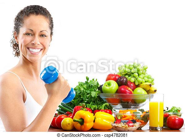 frau, fitness - csp4782081