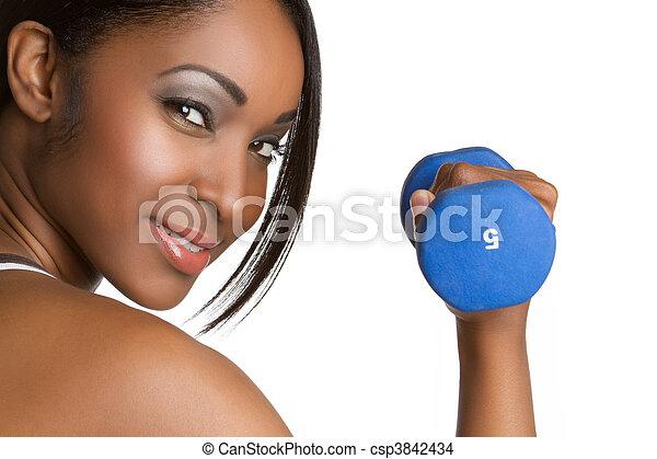frau, fitness - csp3842434