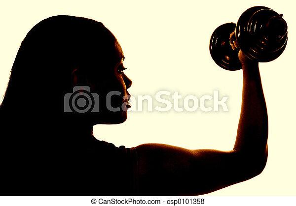 frau, gesundheit, fitness - csp0101358