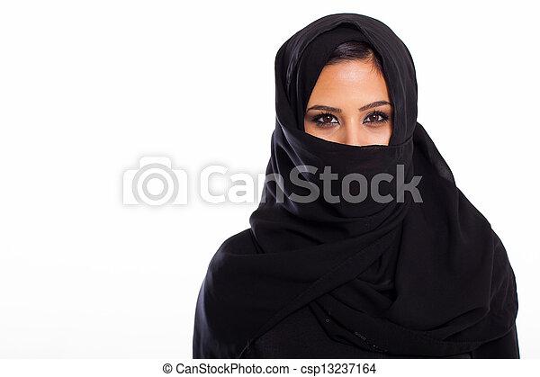 frau, junger, moslem - csp13237164