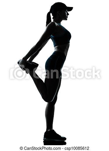 Frau Läufer, die sich aufwärmen - csp10085612