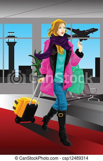 Reisende Frau - csp12489314