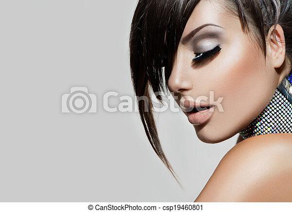 frau, schoenheit, girl., mode, prächtig, porträt - csp19460801