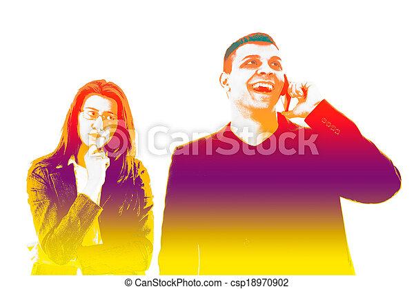 Ehefrau betrügt beim Telefonieren
