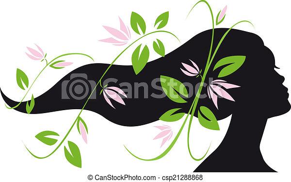 Frauen-Silhouette-Profil - csp21288868