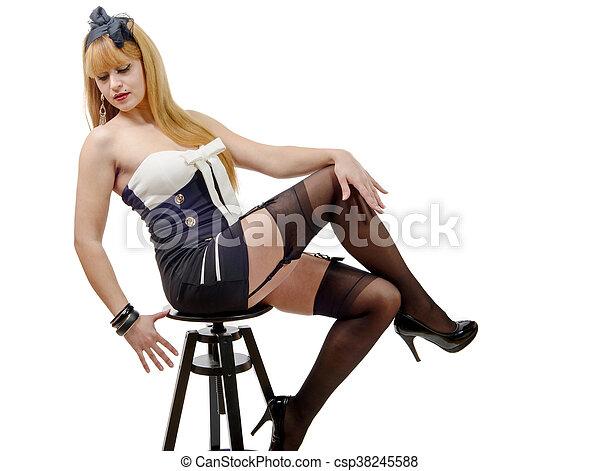 Sexy Frau Strümpfe