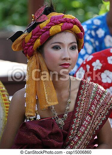 frau, tailandês, - - csp15006860