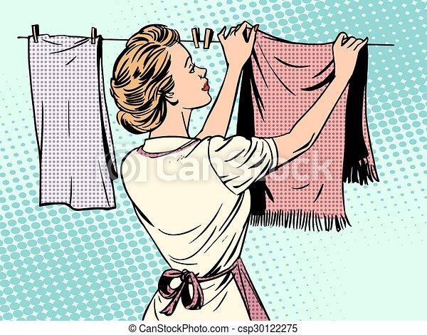 Suche nach einer Hausfrau