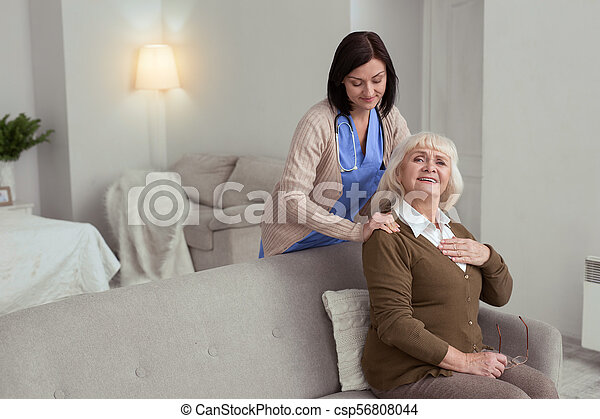 Zimmer Frauen Massage Ältere Oma bekommt