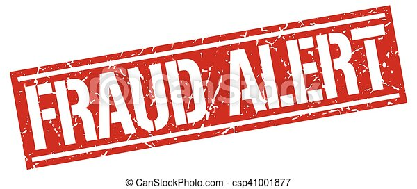 fraud alert square grunge stamp - csp41001877