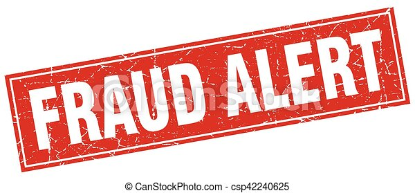 fraud alert square stamp - csp42240625