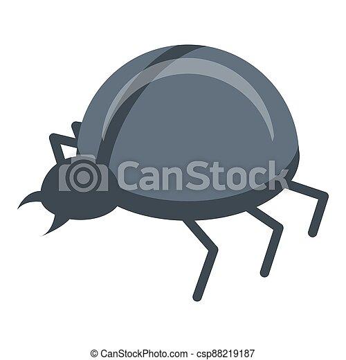 Fraud online bug icon, isometric style - csp88219187