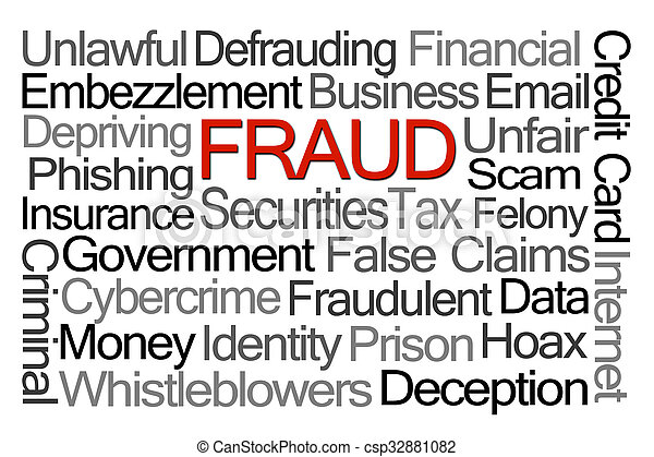 Fraud Word Cloud - csp32881082