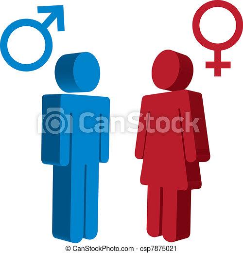 Zeichen Für Männer Und Frauen