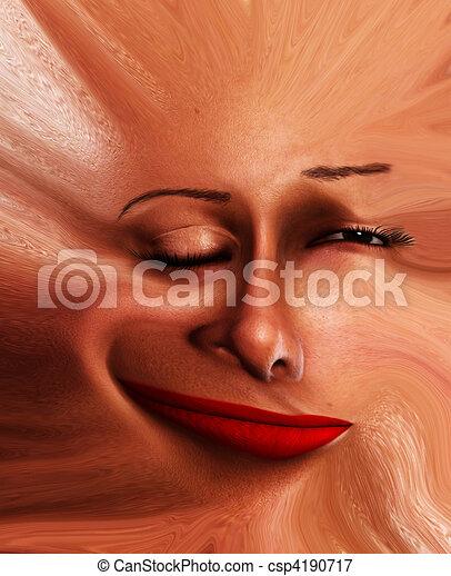 Freaky Face Flat  - csp4190717