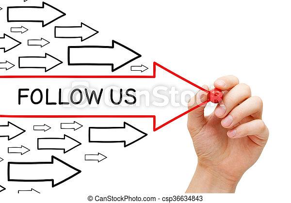 frecce, ci, concetto, seguire - csp36634843