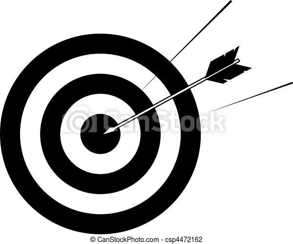 freccia, illustrazione, bersaglio - csp4472162