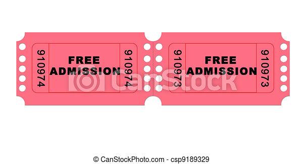 Free admission - csp9189329