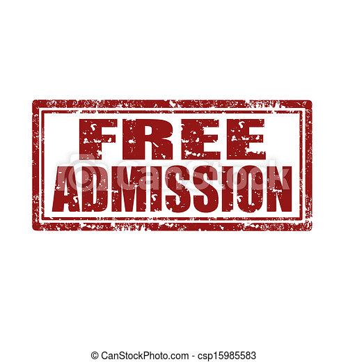 Free Admission-stamp - csp15985583