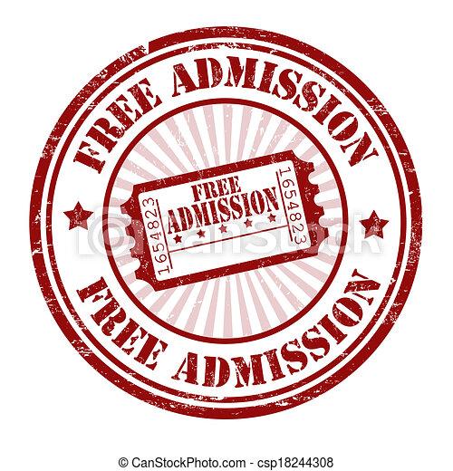 Free admission stamp - csp18244308