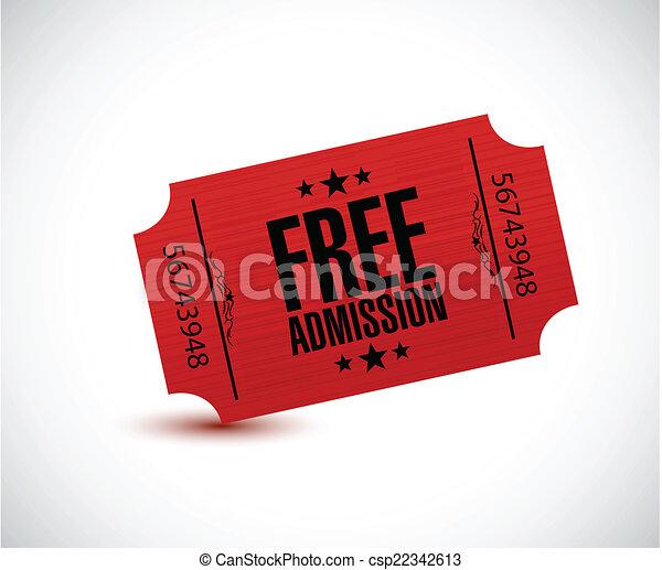 free admission ticket illustration design - csp22342613