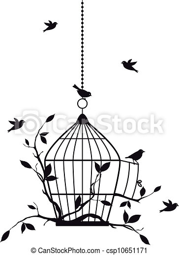 free birds, vector - csp10651171