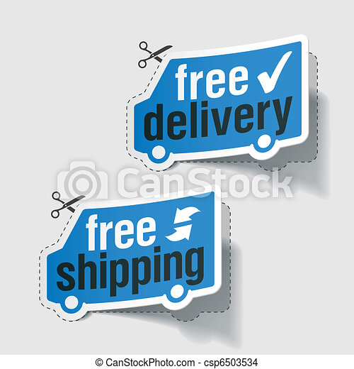 Free delivery, free shipping labels - csp6503534