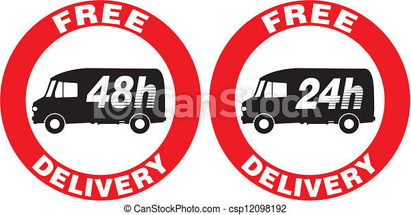 free delivery icon - csp12098192