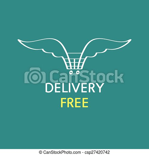 Free delivery logo - csp27420742