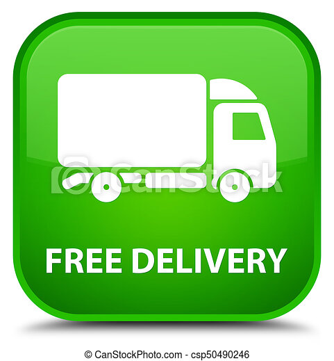 Free delivery special green square button - csp50490246