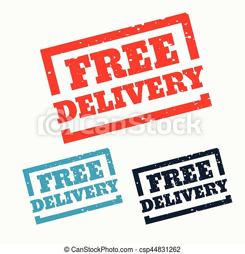 free delivery stamp on white background - csp44831262