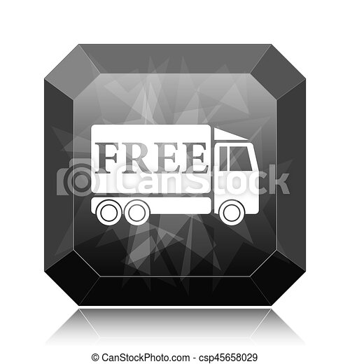 Free delivery truck icon - csp45658029
