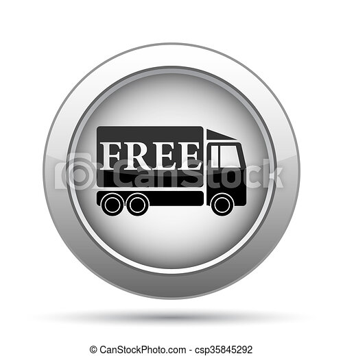Free delivery truck icon - csp35845292