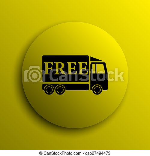 Free delivery truck icon - csp27494473