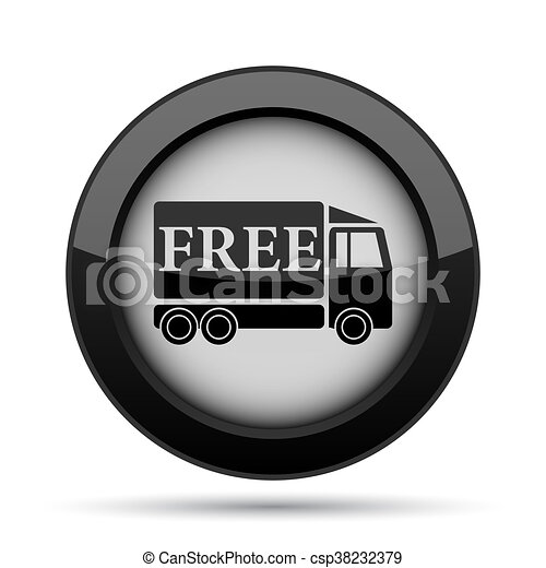 Free delivery truck icon - csp38232379