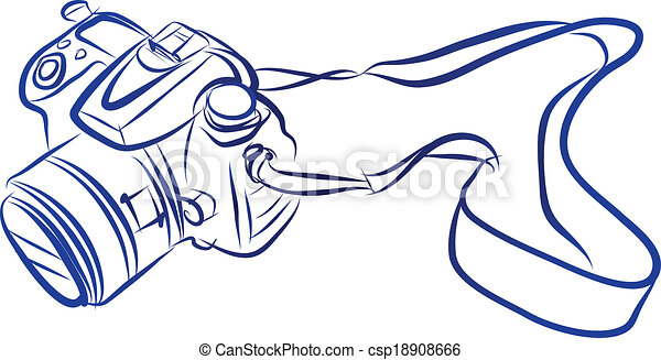 free hand sketch of dslr camera vector vector illustration of free rh canstockphoto com free photograph clip art