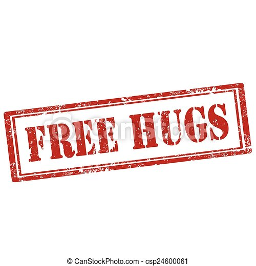 Free Hugs-stamp - csp24600061