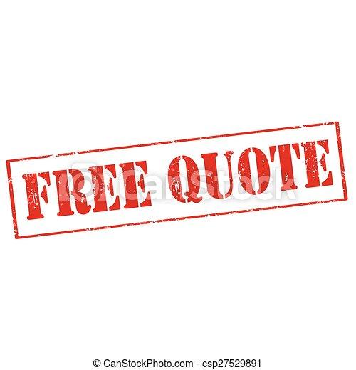 Free Quote - csp27529891