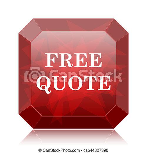 Free quote icon - csp44327398