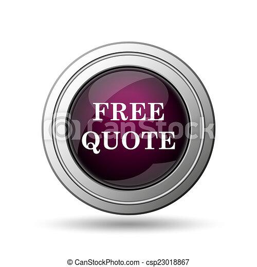 Free quote icon - csp23018867